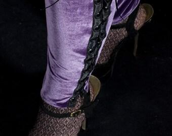 CLEARANCE - Velvet leg warmers