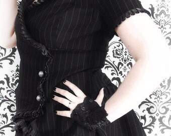 Victorian pinstripe jacket with short sleeves