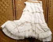 white layered full fairy skirt