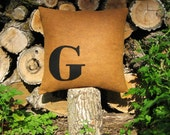 CUSTOM LETTER - 20x20 Inch Recycled Felt Applique Pillow