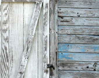 Fine Art Print-Door Photography-Shabby Chic-Coastal Wall Decor-Pale Blue-Gray-White-Nautical Wall Art-Chippy Paint-Fine Art Wall Print-30x45