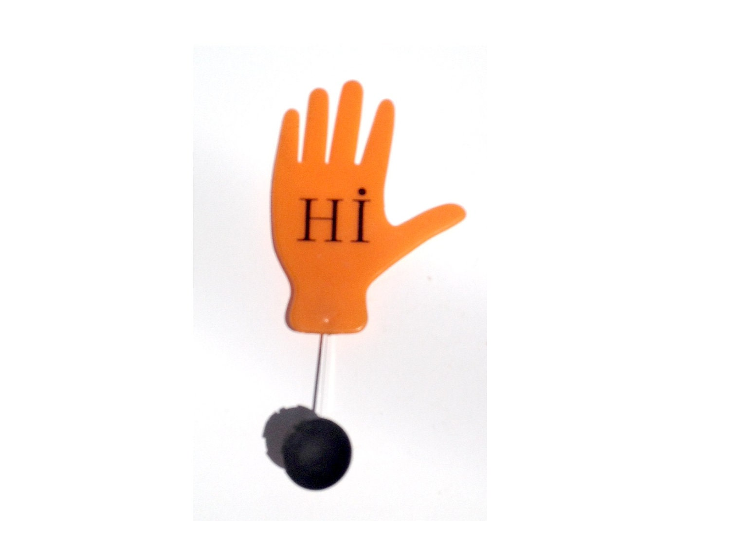 Vintage Waving Hand with Suction Cup for Placement by ...