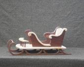 Sleigh miniature Redwood and Pine