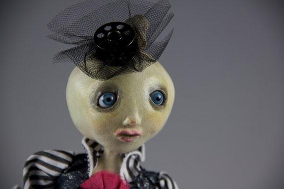 Victorian Anthropomorphic Steampunk Art Doll - Punky P. Pumpkinhead