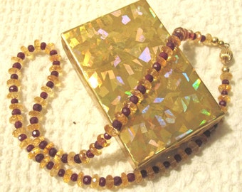 Golden Glow - citrine and ruby and gold