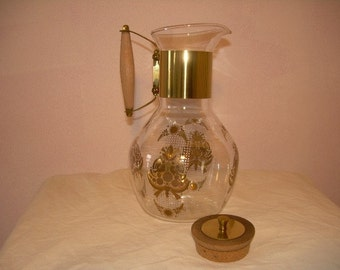 Retro Vintage Glass Coffee Carafe with FREE  shipping