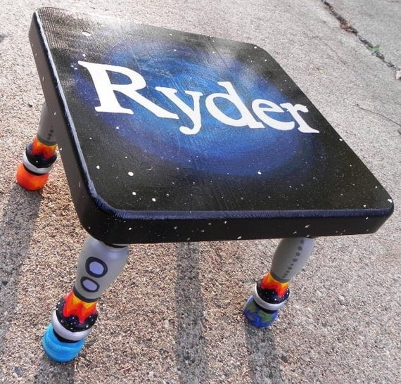 To Infinity Hand Painted Personalized Step Stool For Your