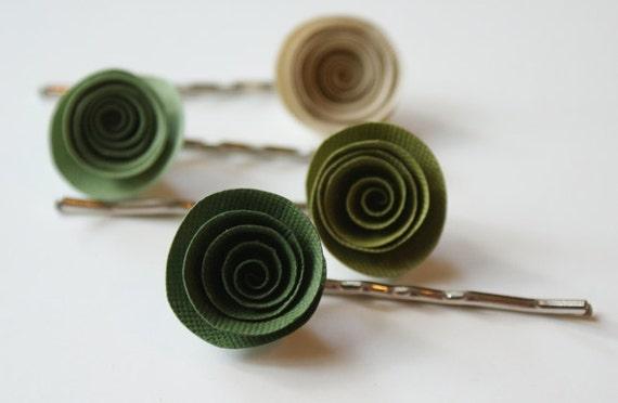 Earthy Girl Greens - Flower Bobby Pins Set of 4