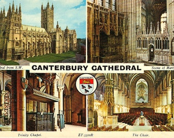 Canterbury Cathedral - Kent - United Kingdom - Vintage International Postcards