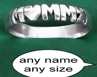 Any name personalized sterling silver rings,custom band