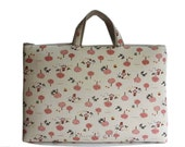 """15"""" Macbook or Laptop bag with handles and 2 interior pocket- Little Red-Ready to ship"""