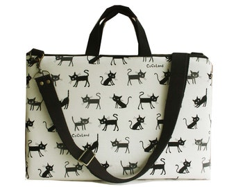 SALE-Macbook or Laptop bag with handles and detachable shoulder strap- Cocoland of cat -CHOOSE COLOR