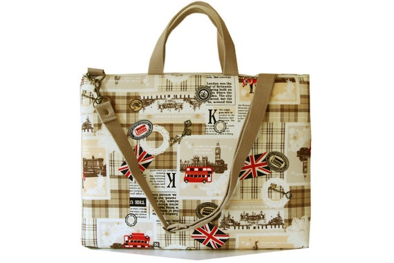 """13"""" Macbook or Laptop bag with handles and detachable shoulder strap-Ready to ship"""