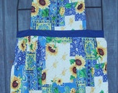 Patchwork and Sunflowers Old fashioned  Bib Apron