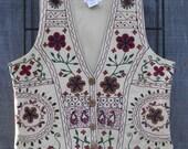 REDUCED, VINTAGE Folk Ethnic Embroidered Vest