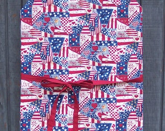 Patriotic Patchwork Print Chef or Barbeque Apron