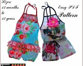 Sunshine Girls Romper Pattern + Free Mother-Daughter Apron Pattern,Sewing Patterns, baby, toddler, children, pdf, tutorial, e book