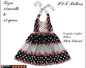 Madison Girls Dress PATTERN + Free Mother-Daughter Apron Pattern, PDF Sewing Patterns for Children, Halter Dress Pattern, Baby, Toddler