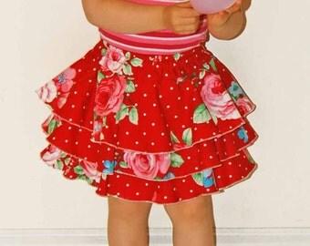 Emma Skirt Pattern + Free Mother-Daughter Apron Pattern , Girls Shorts Skort Pattern, Children's Sewing Patterns, PDF, E Book, Tutorial