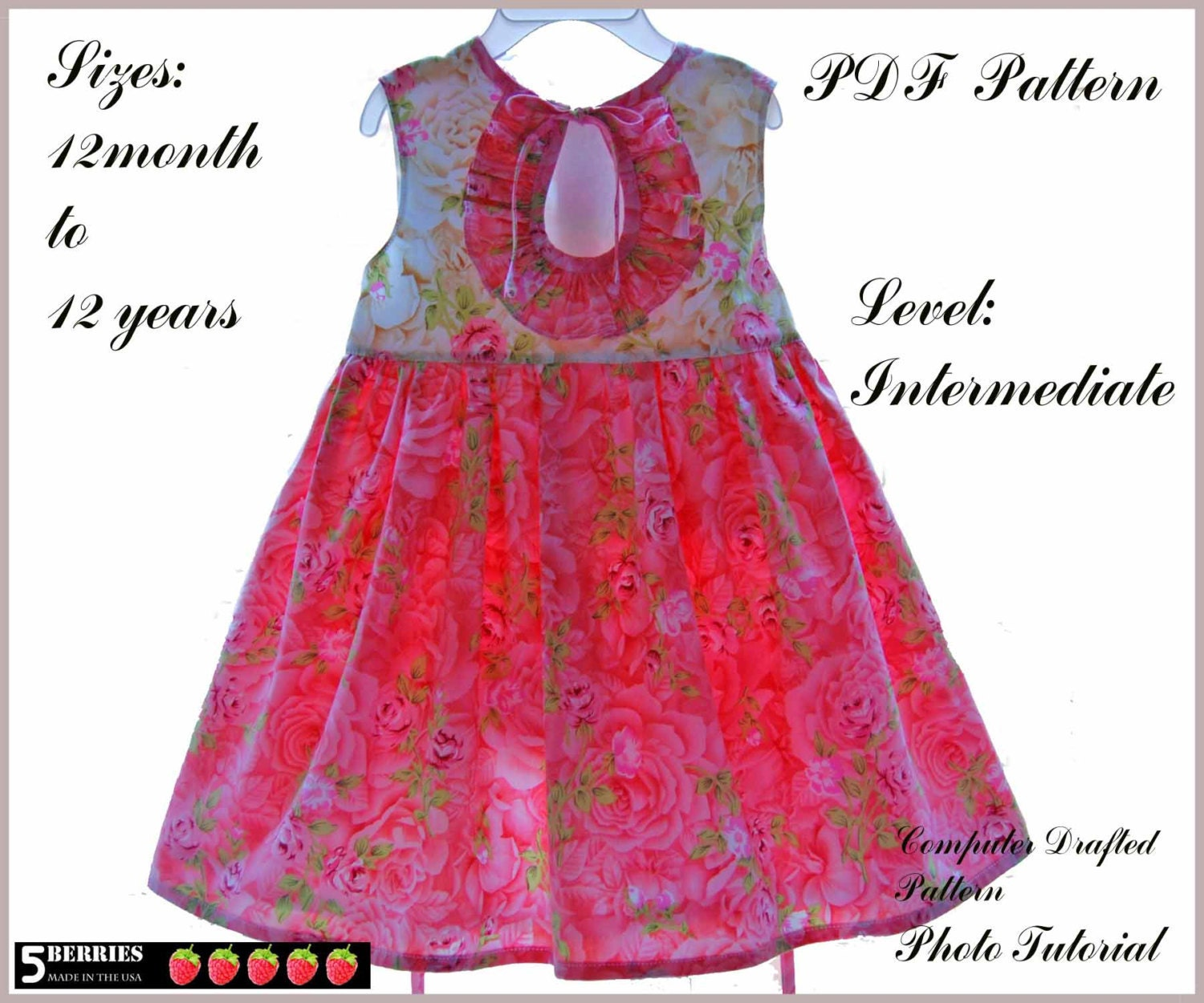 Party dress pattern - Etsy