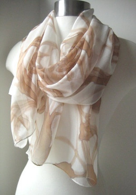 Hand Painted Silk Scarf - Summer Eternal - Made to Order