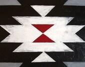 Navajo rug blanket painting