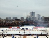 WINTER CLASSIC 2009 Wrigley Anthem Fly Over 8x10 Photo