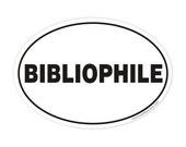 bibliophile oval sticker