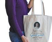 a good novel canvas book bag