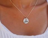 lit geek charm necklace