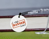 I read banned books charm necklace