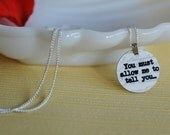 Darcy's proposal charm necklace