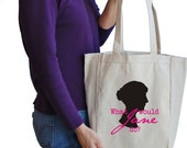 What would Jane do canvas tote bag