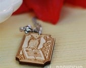 book owl necklace
