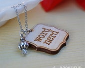 Word nerd necklace