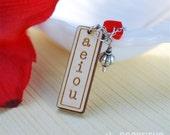 a e i o u vowel necklace