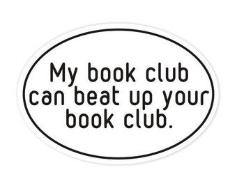 my book club bumper sticker