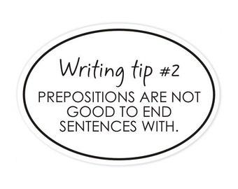 writing tip no. 2 sticker