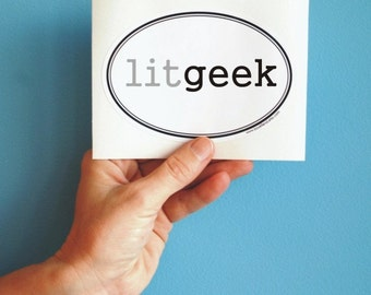 litgeek geeky bumper sticker