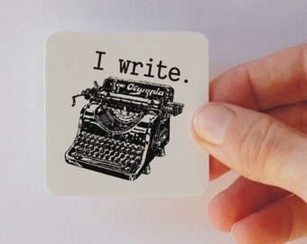 i write typewriter magnet