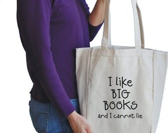 i like big books canvas tote bag