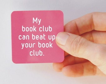 my book club square magnet
