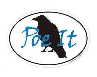 poe it oval sticker