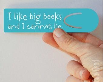 i like big books aluminum bookmark