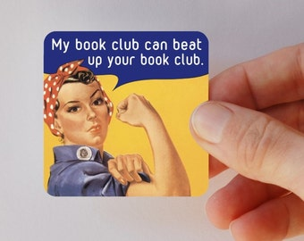 Rosie's book club square magnet