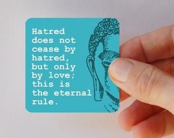 BUDDHA hatred square magnet