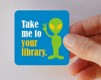 take me to your library square magnet