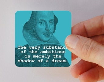 SHAKESPEARE substance of a dream square magnet