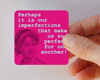 JANE AUSTEN imperfections square magnet