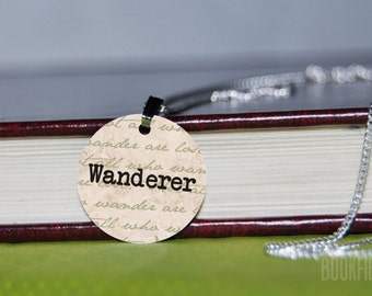 wanderer Tolkien charm necklace